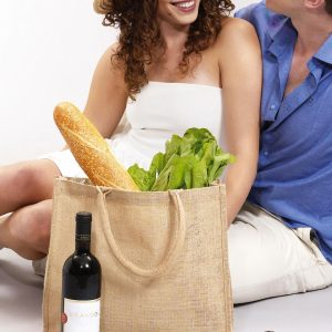 Short Handled Jute Shopper Bag-1